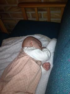 Maja tog en tupplur innan middagen.
